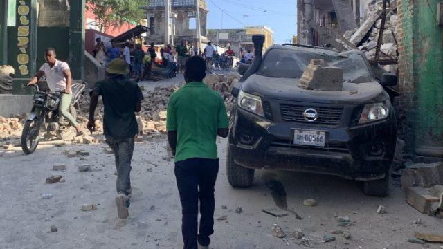 На Гаити произошло мощное землетрясение