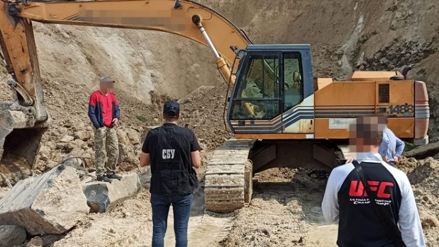СБУ разоблачила незаконную добычу базальта