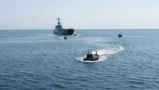 В Одессе прошел военно-морской парад