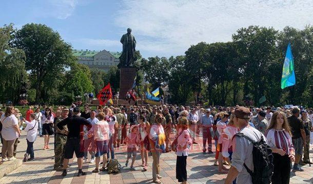 В столице проходит Марш защитников Украины