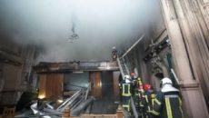 Пожар в Костеле Святого Николая ликвидировали