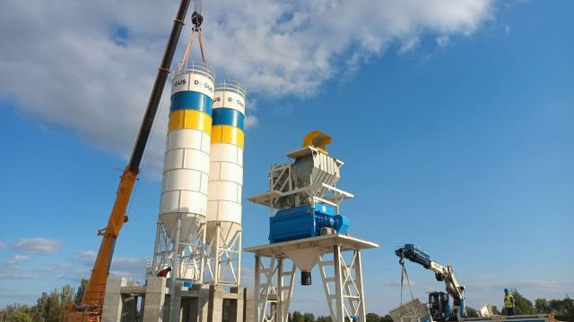 Турецкая Dogus начала монтаж бетонного завода в Кременчуге