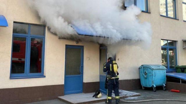 В Киеве утром горела гимназия